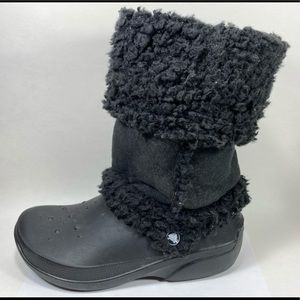 Crocs Faux Fur Lined Boots Women's 10
